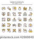 Game Elements , Thin Line and Pixel Perfect Icons. 42660640