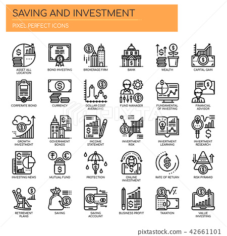 Saving and Investment ,   Pixel Perfect Icons 42661101