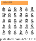 Hindu Gods , Thin Line and Pixel Perfect Icons 42661110