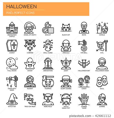 Halloween Elements ,  Pixel Perfect Icons 42661112