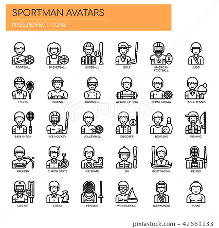 Sportman Avatars ,   Pixel Perfect Icons 42661133