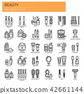 Beauty , Thin Line and Pixel Perfect Icons 42661144