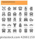 Transportation , Thin Line and Pixel Perfect Icons 42661150