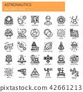 Astronautics , Thin Line and Pixel Perfect Icons. 42661213