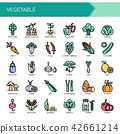 Vegetable , Thin Line and Pixel Perfect Icons. 42661214