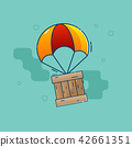 parachute, box, delivery 42661351