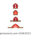 Red barn logo design template 42663033