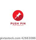 Push pin icon design template 42663086