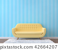 Colorful living room with pastel color 3d render 42664207