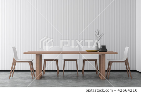 Minimal style dining room 3d render 42664210