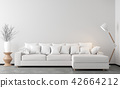 Minimal style living room 3d render 42664212
