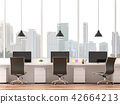 Moderm office with city view 3d render 42664213