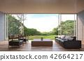 Modern contemporary living room 3d render 42664217