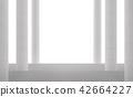 Modern white space interior 3d render 42664227