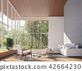 Tropical house living room 3d render 42664230