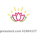 Lotus flowers design logo Template icon 42664337