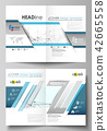 Business templates for bi fold brochure, flyer, report. Cover design template, vector layout in A4 42665558