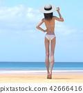 ภาพความงามชุดว่ายน้ำสตรี perming3DCG ภาพประกอบวัสดุ 42666416