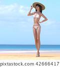ภาพความงามชุดว่ายน้ำสตรี perming3DCG ภาพประกอบวัสดุ 42666417