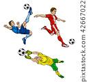 Cartoon Soccer Football Players 42667022