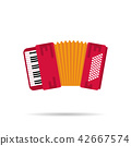 Isolated flat icon of the accordion 42667574