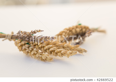 wheat and lavender bouquet 42669522