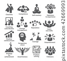 Business management icons Pack 45 Icons for leadership, career 42669993