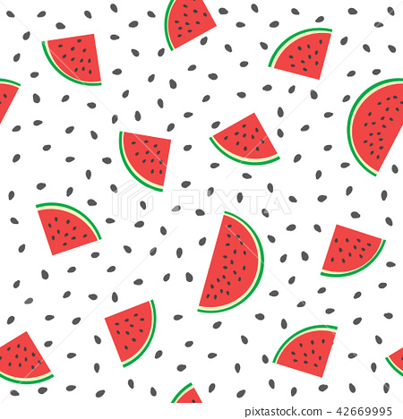Seamless watermelons pattern. Vector background with watermelon 42669995