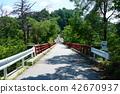 Bridge of folktown climbing Photographed from Ikeda-machi, isolated bridge Ikeda-machi 42670937