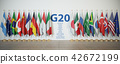 G20 summit or meeting concept. Row from flags 42672199