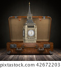 Trip to London. Suitcase with Big Ben 42672203