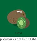 KIWI FRUIT ON GREEN 42673366