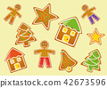 different Christmas cookies 42673596