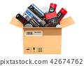 batteries, cardboard, battery 42674762