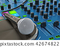DJ Console with microphone closeup 42674822