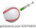 Doping cases in baseball concept, 3d rendering 42674844