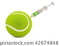 Doping cases in tennis concept, 3d rendering 42674848
