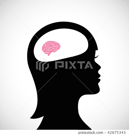 woman with small brain thinking 42675343