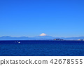 후지산, 에노섬, 바다 42678555