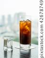 coffee, ice, milk 42678749