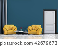 Living room interior in modern style, 3d render 42679673