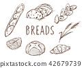 鋼筆劃麵包 42679739