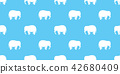 elephant seamless pattern vector isolated cartoon 42680409