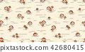 mushroom isolated vector yard seamless pattern 42680415