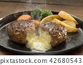 치즈 인 햄버거 42680543