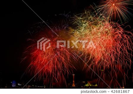 미나토 고베 해상 불꽃 놀이 42681867