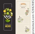 menu vegetable frame 42682685