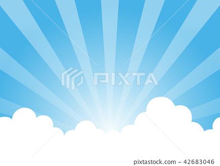 藍天背景例證 42683046