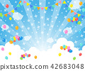 在藍天的氣球|背景例證 42683048
