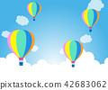 在藍天的氣球|背景例證 42683062